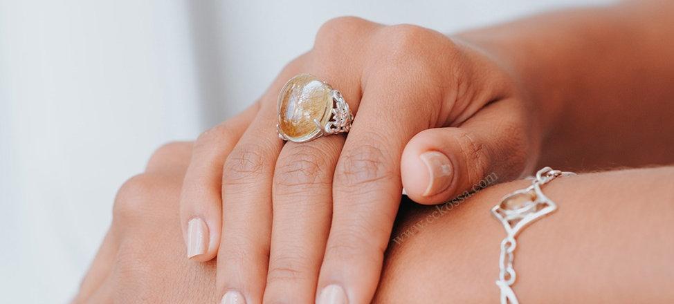 elegant manicured hands