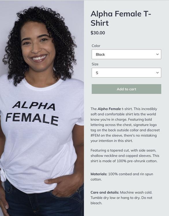 Ethnically ambiguous model white t-shirt