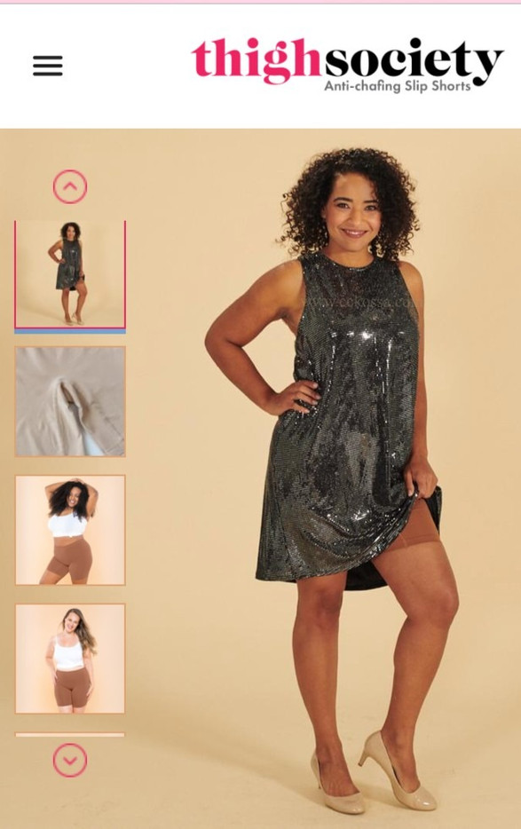 ecommerce model sequin dress