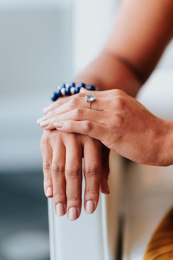 Hand model ring