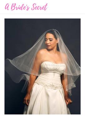 flowing white bridal veil satin gown