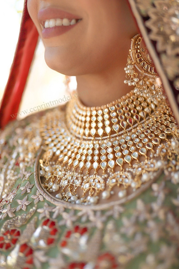South Asian bridal model expensive jewellery