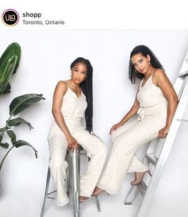 Ontario fashion model white jumpsuit