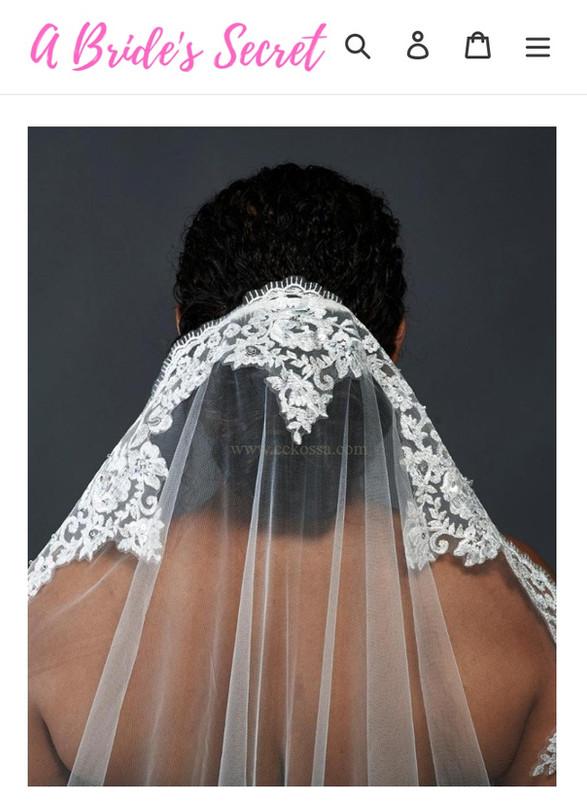 white bridal veil