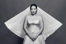 calm Mississauga bride flowing veil