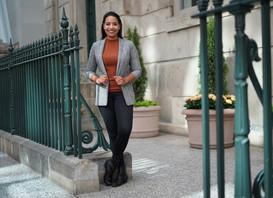 smiling woman in business wear