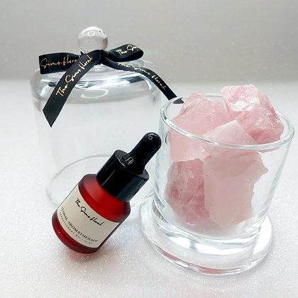 Rose Quartz Candle Jar