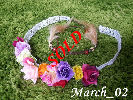 Floral Feather Crown