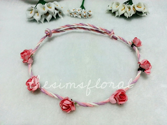 Mini craft roses Floral Headband