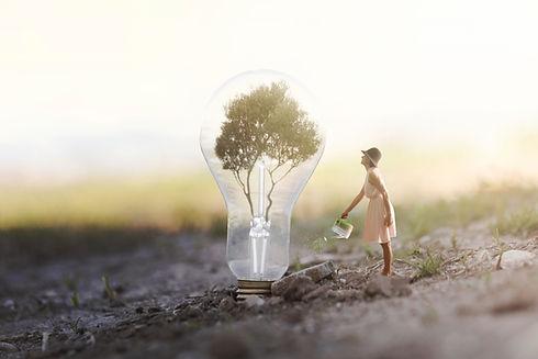 surreal and conceptual  image of renewab