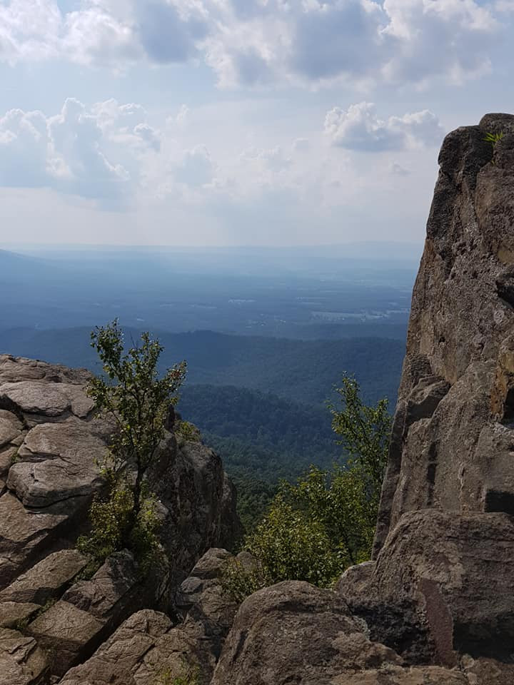 Humpback Rock, in the Blue Ridge Mountains, Virginia.