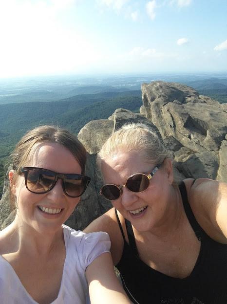 Riika(left) and Johanna(right) at Humpback Rocks