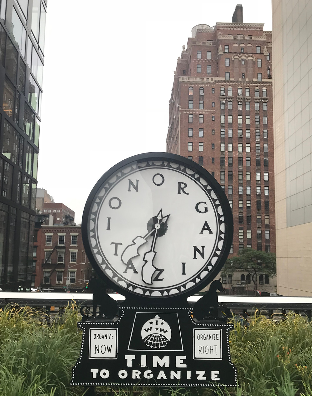 Time to Organize, Clock at the High Line, NY