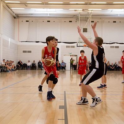 Kids basketball match