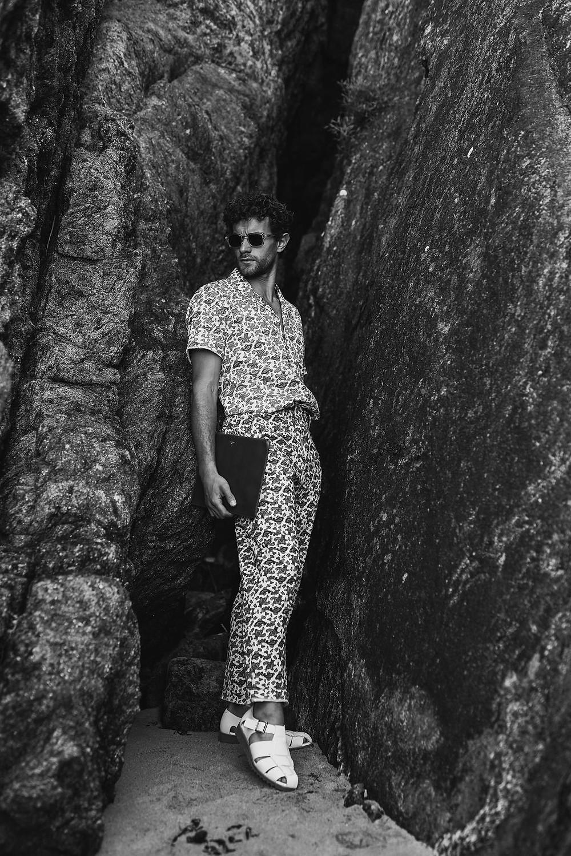 Shirt and Trousers Defursac, Shoes Paraboot, Bag Sandro, Eyewear Études