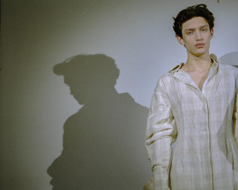 Aleksander wears Jacquemus dress.