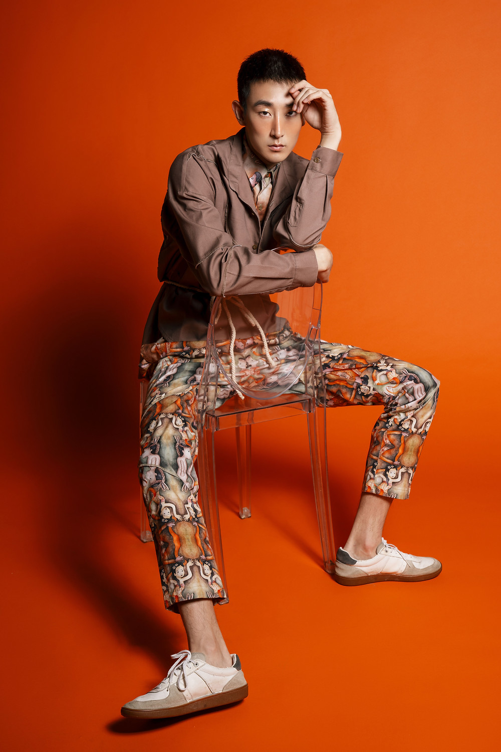Shirt, jacket and pants from @temmaprasetio x @han_chandra GENERASI Collection, shoes by Model's Own