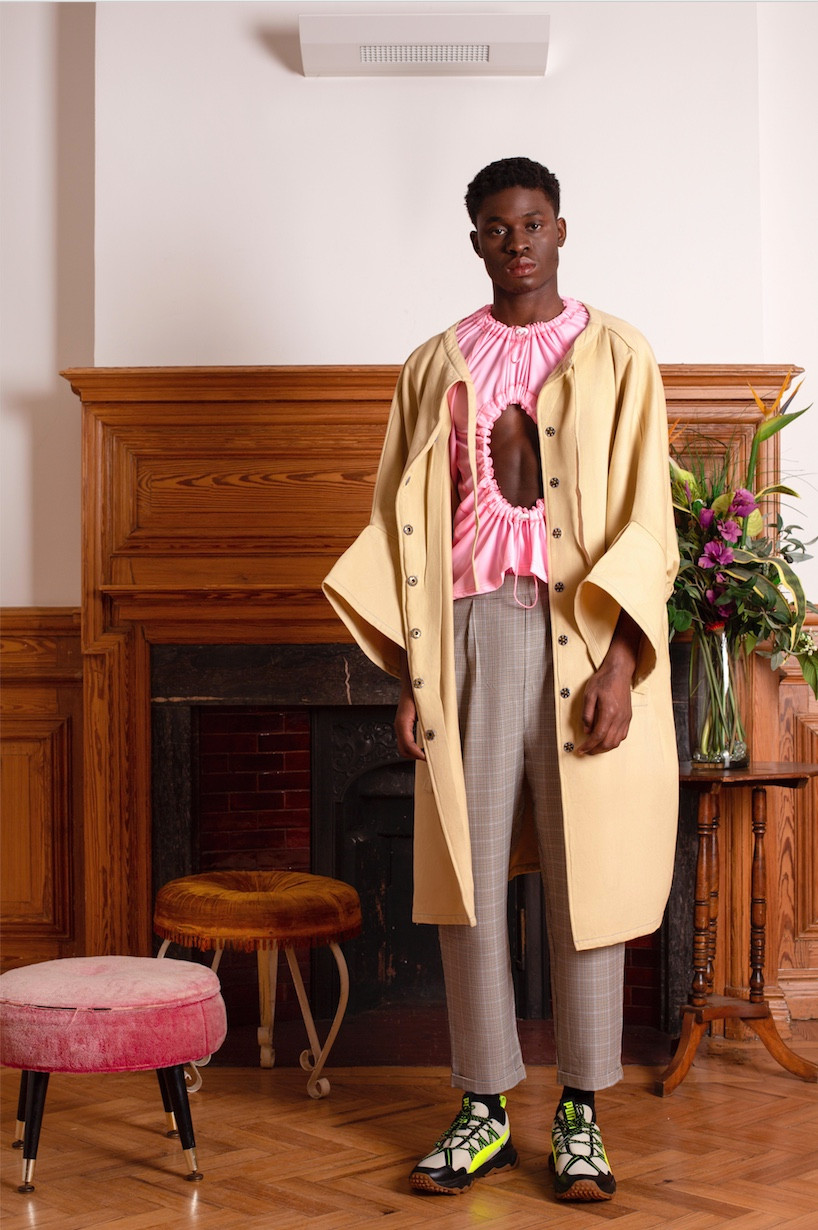 Jacket: Esfera Top: Madison McLoughlin Trousers: Vintage Supply Shoes: Puma