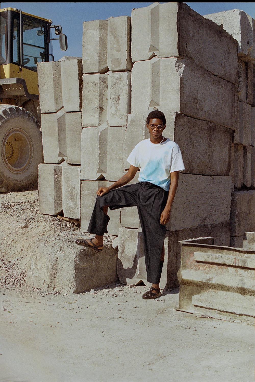 T-shirt - DIY tie-dye  Pants - Maison Margiela Sunglasses - vintage, stylist's own