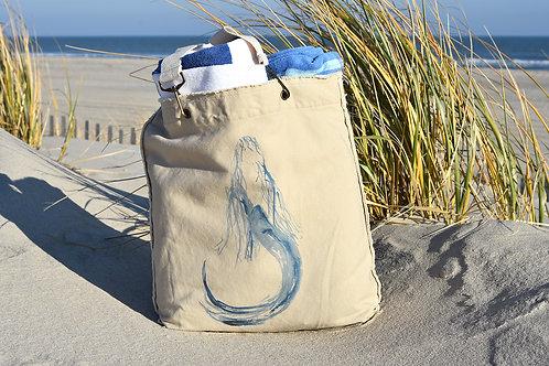 Canvas Tote Bag ~ Flowy Mermaid