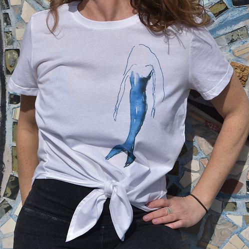 Ladies' Cotton Tie Front T-Shirt