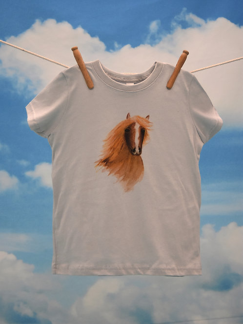 Toddler T-Shirt ~ Horse on Silver