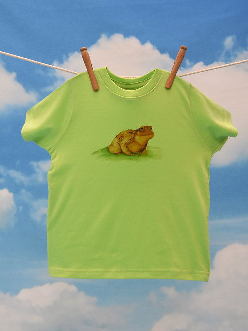 Toddler T-Shirt ~ Toad on Keylime