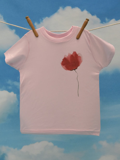 Toddler T-Shirt ~ Pink Flower on Butterfly