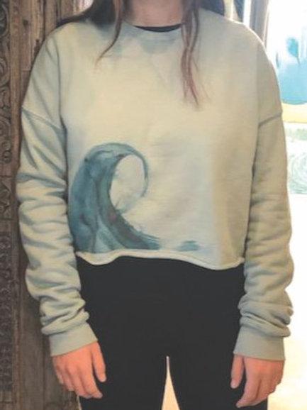 Crop Sweatshirt Blue Wave