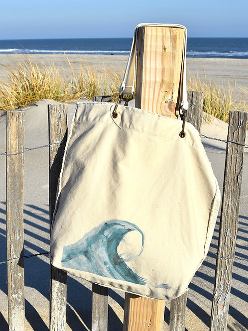 Canvas Tote Bag ~ Blue Wave