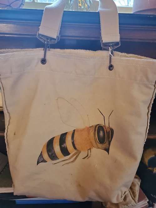 Canvas Tote Bag ~ Bee