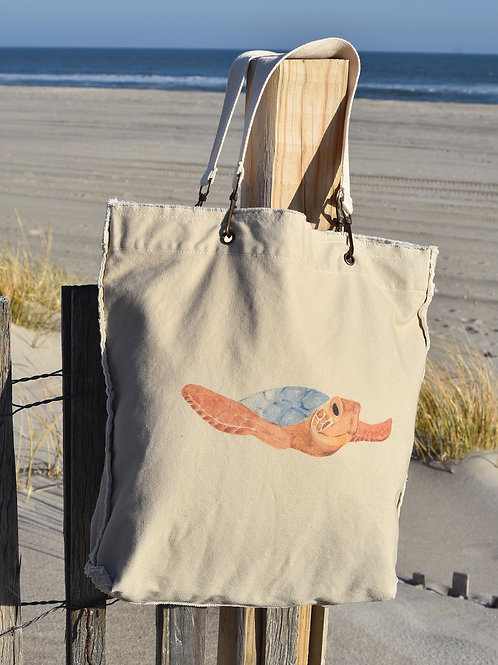 Canvas Tote Bag ~ Sea Turtle