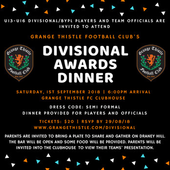 The Divisional Awards Dinner