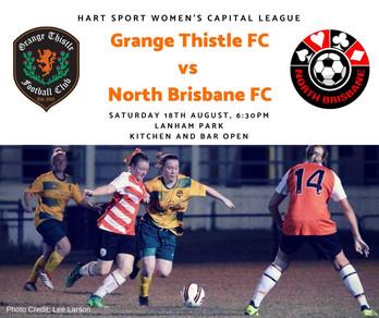Grange taking on North Brisbane FC