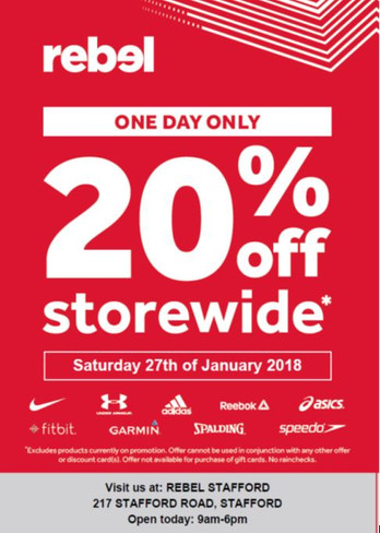 20% OFF STOREWIDE ONE DAY SALE !!!
