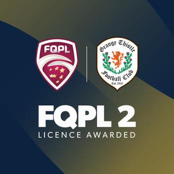 Grange Thistle FC awarded an FQPL 2 licence