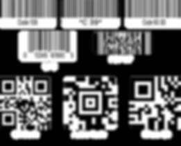 barcodes code128 C39 QR Code UPC PDF417 MicroQR Aztec Code