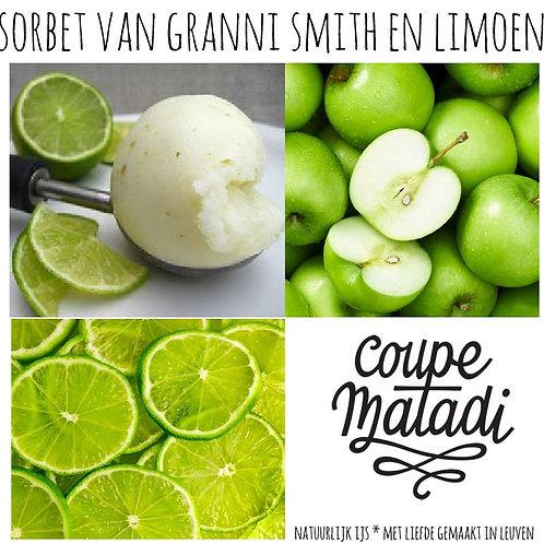 1 L SORBET groene appel & limoen