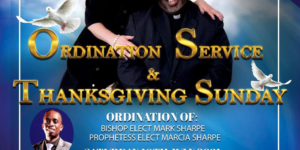 Ordination of Bishop - Elect Sharpe & Prophetess Marcia Sharpe