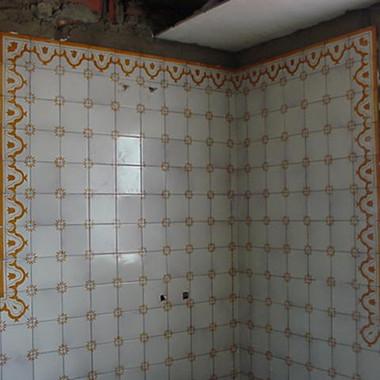Baño azulejos pintados a mano obra