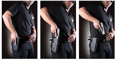 Tactical vest holster