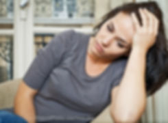 Image of worried woman