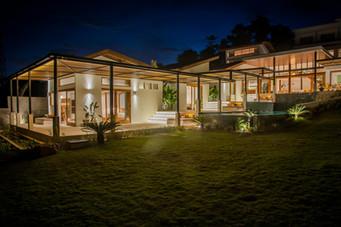 Villa Serena at night