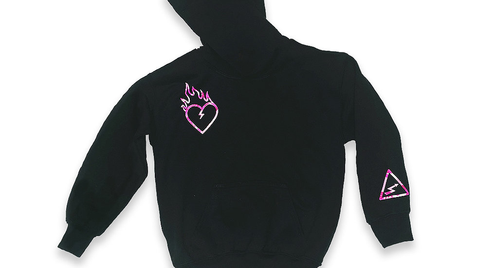 Kid Gnarly - Pink Camo pullover hoodie