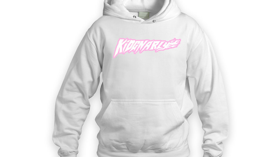 Kid Gnarly - Easter Pink logo pullover hoodie