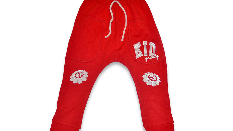 Kid Gnarly - Peace Flower Jogger (Red)