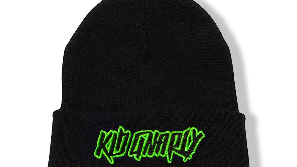 Kid Gnarly - Beanie logo (lime)