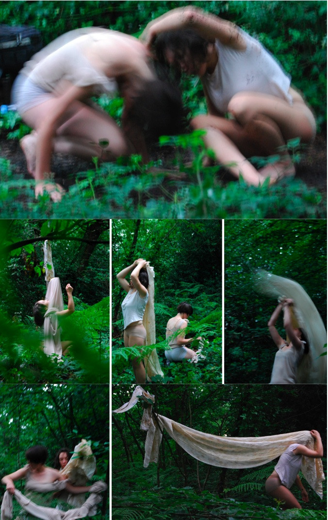 A Process in Time, Oxlea's Woods, performance 2012