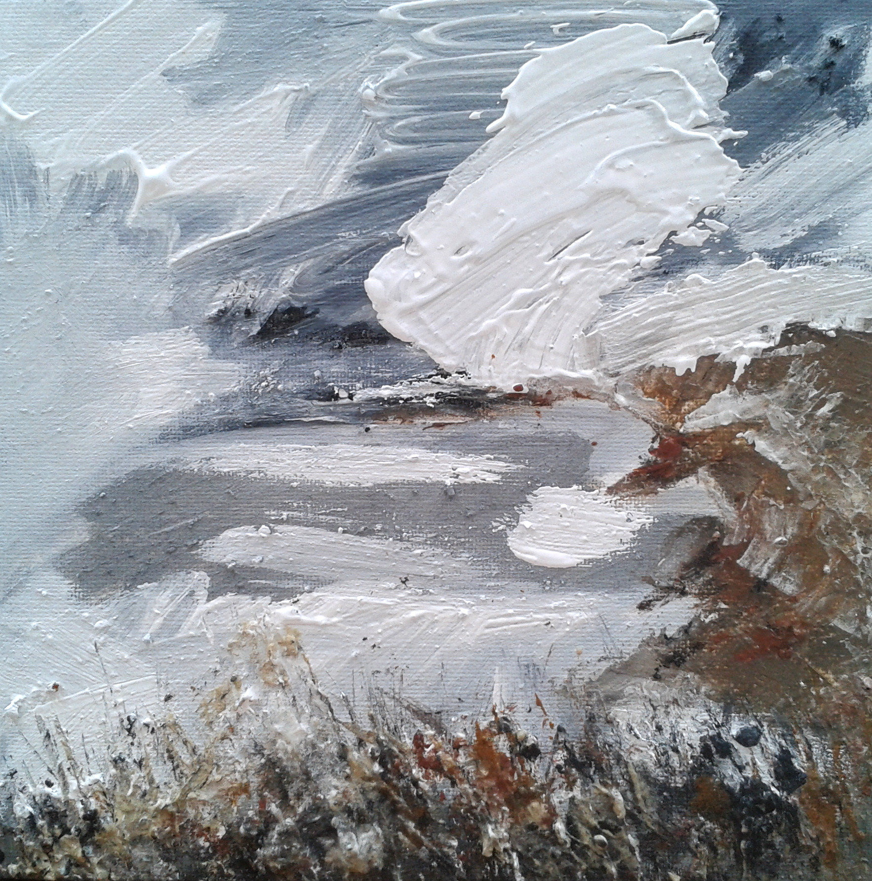 White Cloud over Grey Sky (Northam Burrows) 2016