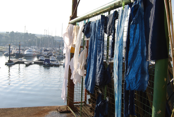 Sublime Indigo Workshop with Fish Factory Arts, Falmouth 2011